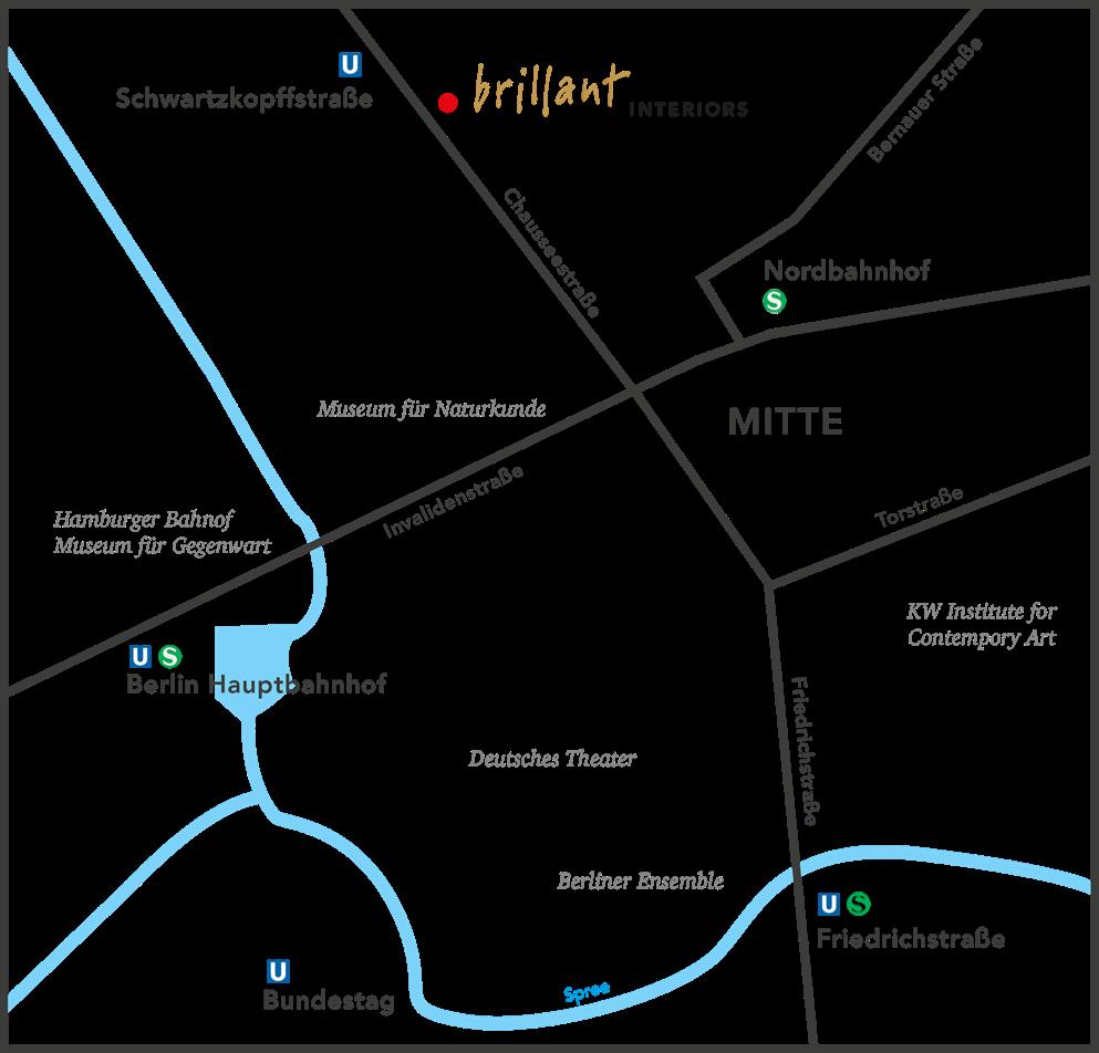 brillant interiors Interior Archtitect Berlin Mitte Map